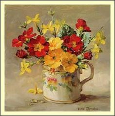 """Primulas and Jasmine"" - by Anne Cotterill"