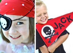 Could make these cute flags with Bodhi's name instead of Jack