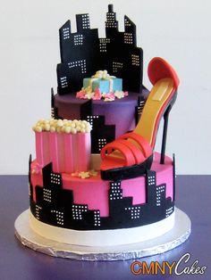 high heel city cake