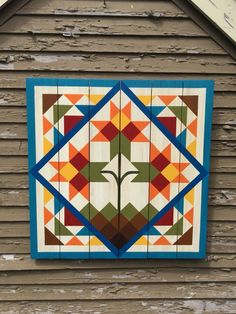 How I made my own Barn Quilt | Beautiful Barn Quilts | Pinterest ... : barn quilt patterns - Adamdwight.com