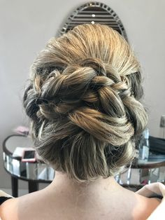 Wedding hair plaited