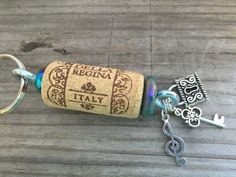 Shop for on Etsy, the place to express your creativity through the buying and selling of handmade and vintage goods. Wine Cork Jewelry, Wine Cork Art, Bottle Jewelry, Wine Cork Crafts, Wine Bottle Crafts, Wine Corks, Wine Bottles, Wine Cork Projects, Wine Glass Charms