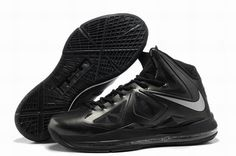 sale retailer 33f61 a3689 Nike Lebron X 10 Anthracite Black Silver Style 541100 001 Onlin