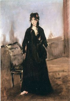 (France) Young woman with a pink shoe, portrait of Berthe Morisot, 1868 by Edouard Manet oil on canvas. Hiroshima, Edouard Manet Paintings, Berthe Morisot, Francisco Goya, Richard Diebenkorn, Joan Mitchell, Camille Pissarro, Pierre Auguste Renoir, Still Life Photography