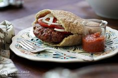 Balkan Burger - You don't have to know how to pronounce Pljeskavica. to enjoy eating it. Entree Recipes, Burger Recipes, Cooking Recipes, Fun Recipes, Meat Recipes, Recipies, Serbian Recipes, Serbian Food, Ground Lamb