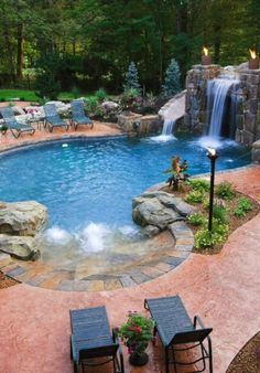 80 Fabulous Swimming Pools with Waterfalls (Pictures ...