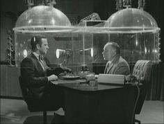 """the Cone of Silence.Get Smart (Britain's version was the Umbella of Silence in """"That Old Gang of Mine"""" episode? James Bond, Tv Retro, Retro Pop, Mejores Series Tv, Old Shows, Vintage Tv, Vintage Photos, Black And White, Funny Photos"""