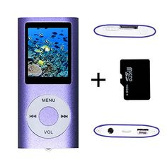 awesome Tom America INC Portable MP4 Player MP3 Player Video Player with Photo Viewer , E-Book Reader , Voice Recorder + 16 GB Micro SD Card (Purple)   Note: 16 GB Micro SD card included. But when you use this MP4, you can exchange the card randomly.   Supports playback of MP3 and video in AMV format…