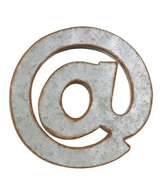 Loving this Galvanized Zinc Symbol '@' on #zulily! #zulilyfinds