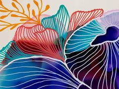 Coral Reef 3 Coral Painting Abstract Art Original Art Ink