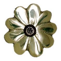 Michael Healy Black-Eyed Susan Doorbell Ring- Polished Brass w/Bronze Center from Cabinet Knobs and More