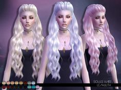 The Sims Resource: LeahLillith Souls Hair • Sims 4 Downloads