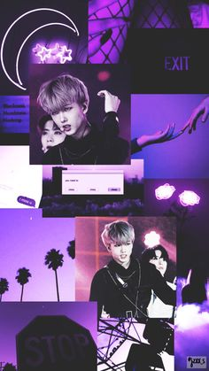 Purple mood board/wallpaper of Park Jisung from NCT performing black on black Floral Wallpaper Desktop, Ipad Wallpaper Quotes, Iphone Background Wallpaper, Purple Wallpaper, Wallpaper Iphone Disney, Bts Wallpaper, Wallpaper Ideas, Iphone Wallpapers, Purple Aesthetic