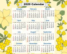 Excellent Photos 2020 calendar design Ideas It is true which the most recent chosen lifestyle development creates individuals turn into as well Printable Yearly Calendar, Free Printable Calendar Templates, 2020 Calendar Template, Calendar Layout, Cute Calendar, Calendar Design, Free Printables, Online Calendar, Planning Your Day