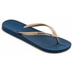 Brilliant (Navy/Gold) Ipanema flip flop