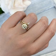 Kissing Sunlight Round Cut Diamond Ring - Gem Breakfast Round Cut Diamond Rings, Diamond Cuts, Gem Hunt, Gems, Engagement Rings, Band, Breakfast, Kissing, Chic
