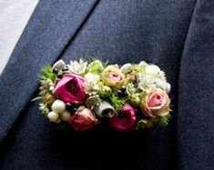 this is different but i like it!  Boutonniere Pocket Square