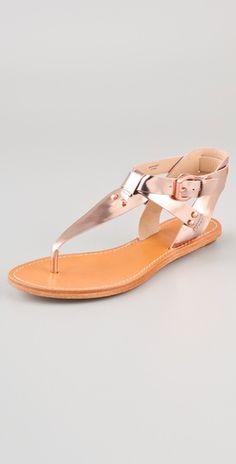 32767e958d8968 Belle by Sigerson Morrison Randy T Strap Flat Sandals