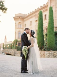 Elegant Barcelona Destination Castle Wedding II - featured on oncewed with photo by Bryce Covey and styling by Joy Thigpen
