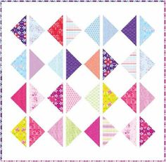 This beautiful quilt features easy but attractive block designs, vivid colors and is a great beginner project!  This design makes excellent use of the colorful synergy of the new Hothouse Flowers collection from Andover, and the excellent pattern instructions are easy to follow. http://www.freequiltpatterns.info/free-pattern---hothouse-flowers-diamond-picnic-quilt-by-mo-bedell.htm