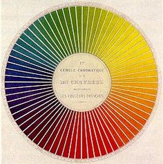 Michel Chevreul (1839)    I also have a poor grasp of color theory.  Did you know Isaac Newton created the first color wheel?  I just learned this.