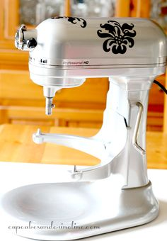 Vinyl Decals for My Mixer ~Primp my Spin~Bling 4My Kitchen Aid - Cupcakes & Crinoline | Cupcakes & Crinoline