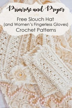 The free crochet pattern for the Primrose and Proper Ladies slouchy beanie makes a beautiful winter hat project that is warm and easy to crochet. Women and girls of all ages are sure to love this pretty accessory with a Victorian or Shabby Chic feel. Link
