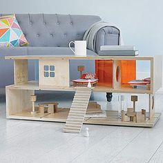 Dual Purpose 'S' Coffee Table And Doll's House - home inspiration