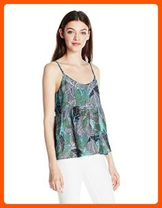 Roxy Junior's Retro Gold Printed Tank Top, Blue Depths Ready Made, M - All about women (*Amazon Partner-Link)