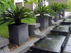 Stone Garden Planter Outdoor Water Fountains Image Interior Design - GiesenDesign