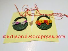 Posts about martisoare written by annuska Polymer Clay Flowers, Craft Projects, Christmas Ornaments, Holiday Decor, Handmade, Crafts, Ministry, Spring, Fimo
