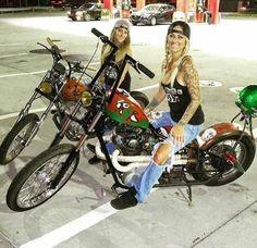 best ideas for bobber motorcycle girl style Female Motorcycle Riders, Bobber Motorcycle, Lady Biker, Biker Girl, Chicks On Bikes, Motos Harley Davidson, Harley Bikes, Hot Bikes, Biker Chick