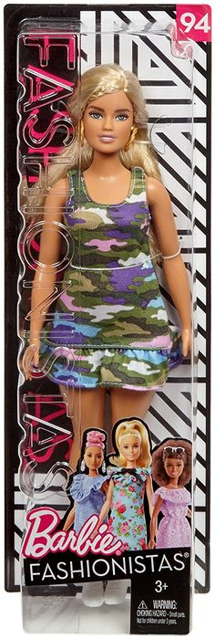 Barbie Fashionistas 75 Lavender Kiss Curvy Nude Summer Face Doll NEW Updo Hair