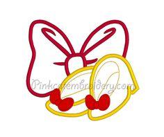 Minnie applique design Minnie Bow applique by PinkCatEmbroidery