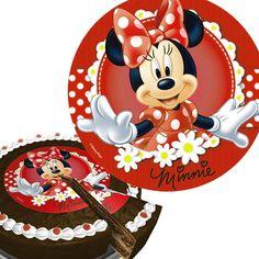 #Minnie #Maus - #Tortenaufleger aus Zuckerguss, ca, 16cm, Tortendeko