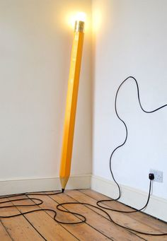 Whimsical Floor Lamp Cleverly Designed as a Giant Pencil  http://www.mymodernmet.com/profiles/blogs/michael-george-hb-lamp?context=tag-design