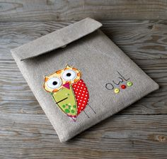 case case iPad owl applique flax чехол для iPad аппликация сова