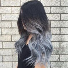 Graue Ombré Hair