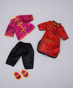 Another great find on #zulily! Rosalina Red Chinese Doll Outfit Set by Rosalina #zulilyfinds