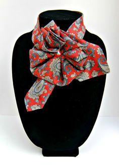 Ladies Necktie Scarf / Countess Mara Silk by JudysLittleShop, $30.00