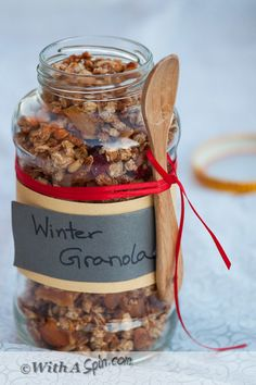Maple Syrup Granola with Quinoa, Coconut, Seeds, Nuts and a Hint of Nutmeg | Breakfast Recipe | Granola Recipe | With A Spin