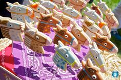 Stick Horse Cookies??? Can I just repin your entire party, please? This is EXACTLY what I want to do for Rachel...