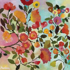 Beautifully colored floral art by Kim Parker
