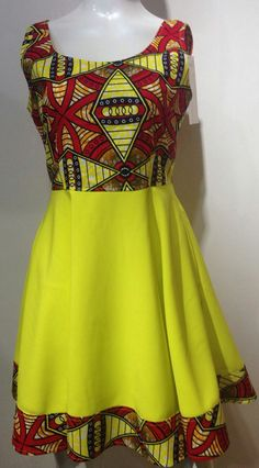 Add this African Ankara print mini dress with a modern touch to your collection! Perfect dress for spring and all the summer weddings. Dress has 2 side pockets *Our dresses run small, the table below Latest Ankara Dresses, Ankara Dress Styles, Kente Styles, African Print Dresses, African Dress, African Prints, African Clothes, African Fashion Designers, African Print Fashion