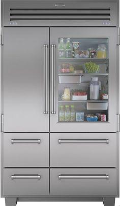 Sub-Zero Pro Series 48 Inch Built In Counter Depth Side by Side Refrigerator - Refrigerator - Trending Refrigerator for sales. - Sub-Zero 48 Inch Stainless Steel Side by Side Refrigerator with cu. Subzero Refrigerator, Glass Door Refrigerator, Counter Depth Refrigerator, Built In Refrigerator, Side By Side Refrigerator, Refrigerator Freezer, Refrigerator Organization, Home Design, Design Ideas