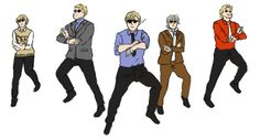 Dancing Nordics XD (Finland, Sweden, Norway, Iceland, Denmark)<<you guys had a dance party and never invited e? Nordics Hetalia, Hetalia Funny, Studio Deen, Animes On, 1 Gif, Gangnam Style, Nordic Style, Doujinshi, Beautiful World