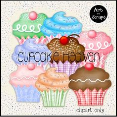 Cupcake Heaven :: Clipart and Graphics :: Aimee Asher Boutique