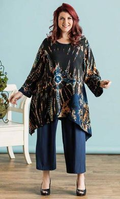MELROSE TUNIC / MiB Plus Size Fashion for Women / Summer Fashion / Art You Can Wear http://www.makingitbig.com/product/5238