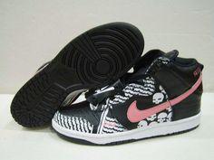 the best attitude 0196b 87fc2 Nike Dunk High Skulls Of Saigon Skull Black Nike Dunks, Skulls, The North  Face