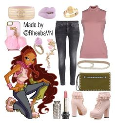 """""""Layla 2 (Winx)"""" by rheebavn ❤ liked on Polyvore featuring Chanel, River Island, Solange Azagury-Partridge, Gucci, H&M, Valentino, Ted Baker, Topshop and Anna Sui"""